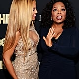 Oprah Winfrey looked unable to cope.
