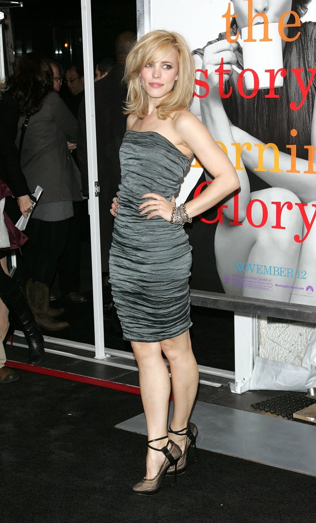 A curve-hugging, ruched, and strapless Lanvin at the NYC premiere.