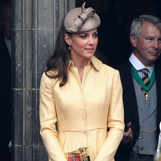 Kate Middleton Yellow Dress Prince William Order of Thistle