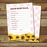 Dear Baby Printable Shower Cards