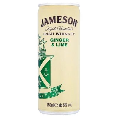 Jameson Irish Whiskey Ginger & Lime
