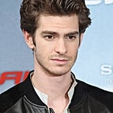 Andrew Garfield looked serious at the Berlin photocall for The Amazing Spider-Man.