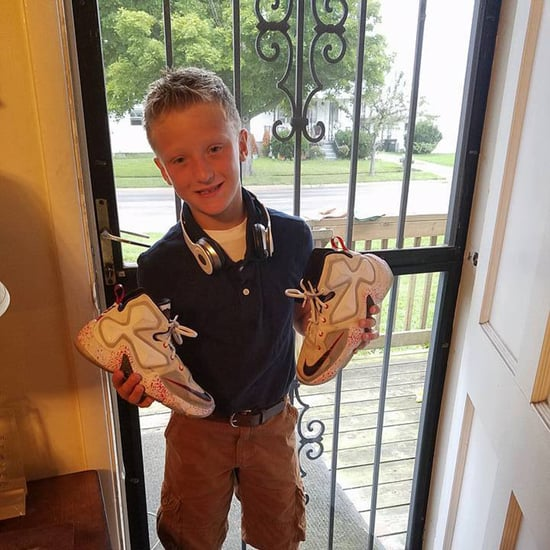 Young Boy Asks Mom to Give Shoes to Friend