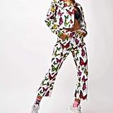 Jaded London White Butterfly Print Kick Flare Jeans