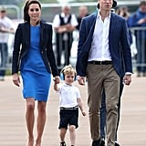And They Both Matched Prince William's Blue Jacket and White Shirt