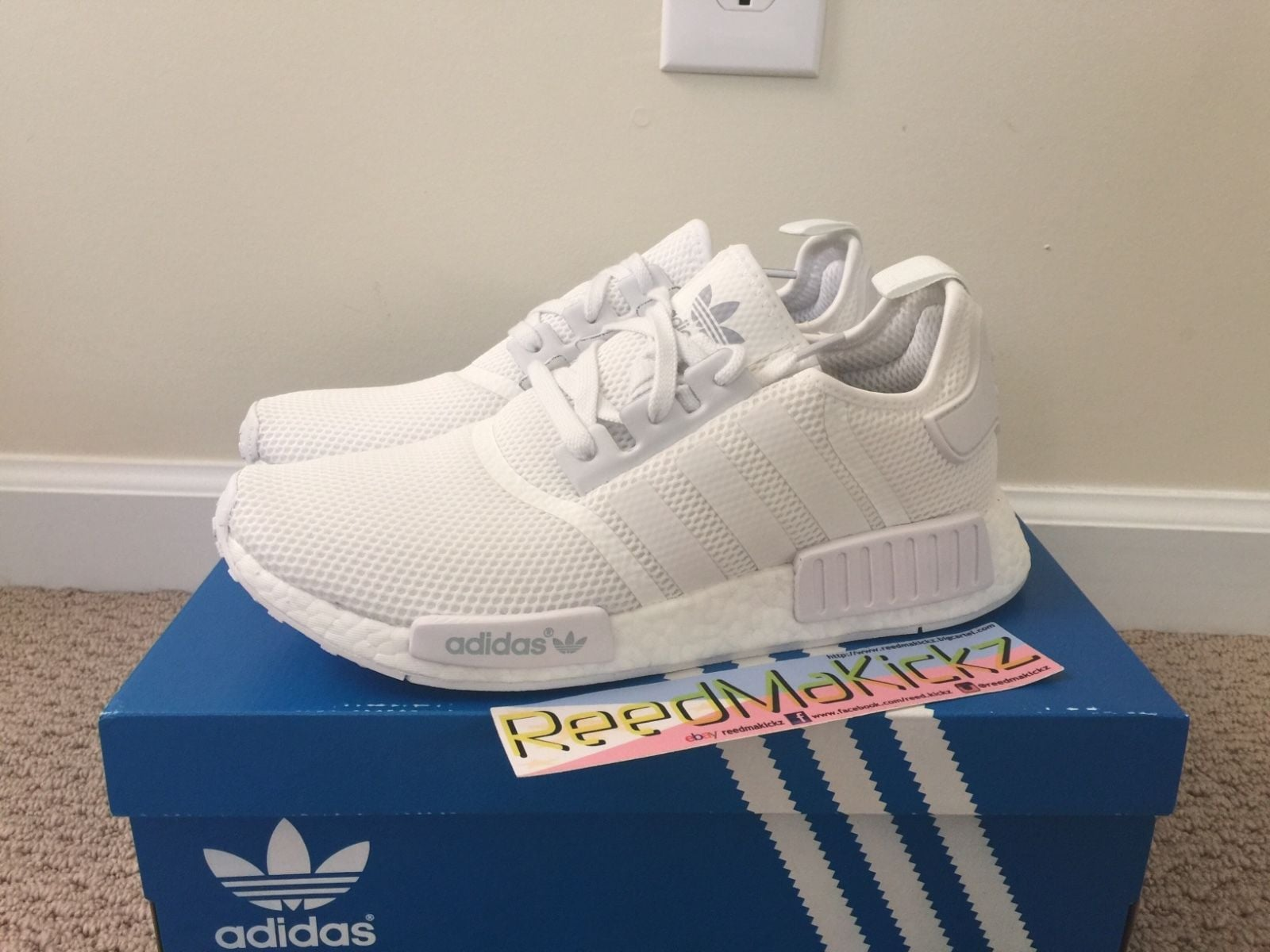 Nmd Triple White Ebay