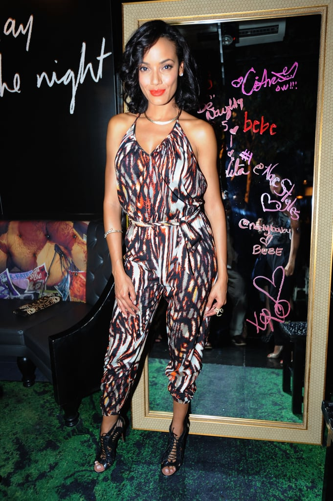 Another woman who knows the power of a good pantsuit? Selita Ebanks, who picked a printed style from Bebe for the brand's event.