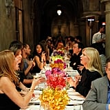Guests were treated to a glamorous dinner.