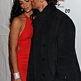 Matthew McConaughey kissed Camila Alves on the red carpet at the Heart Truth's Red Dress Collection during NY Fashion Week in February 2011.