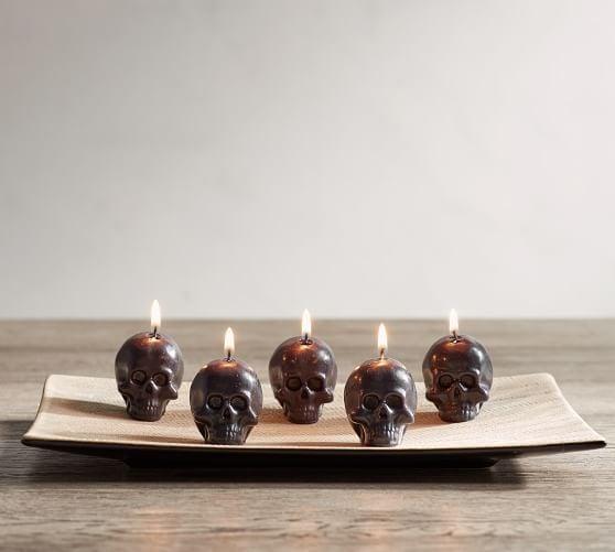 Mini Skull Candles