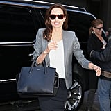 Angelina Jolie was fresh faced in NYC on Friday.
