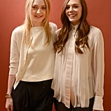 As costars in Very Good Girls, Dakota Fanning and Elizabeth Olsen seemed to be on the same fashion wavelength in their ivory tops.