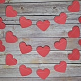 Red Heart Shaped Valentine's Day Paper Garland Banner