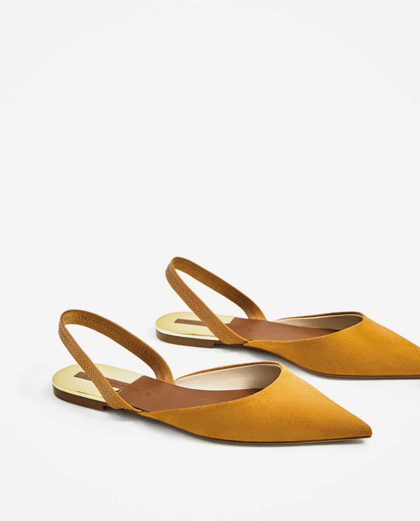 If you don't already have a pair of slingbacks ($30), you need one. The added strap on these Zara shoes ensures your feet won't slide out of your flats.