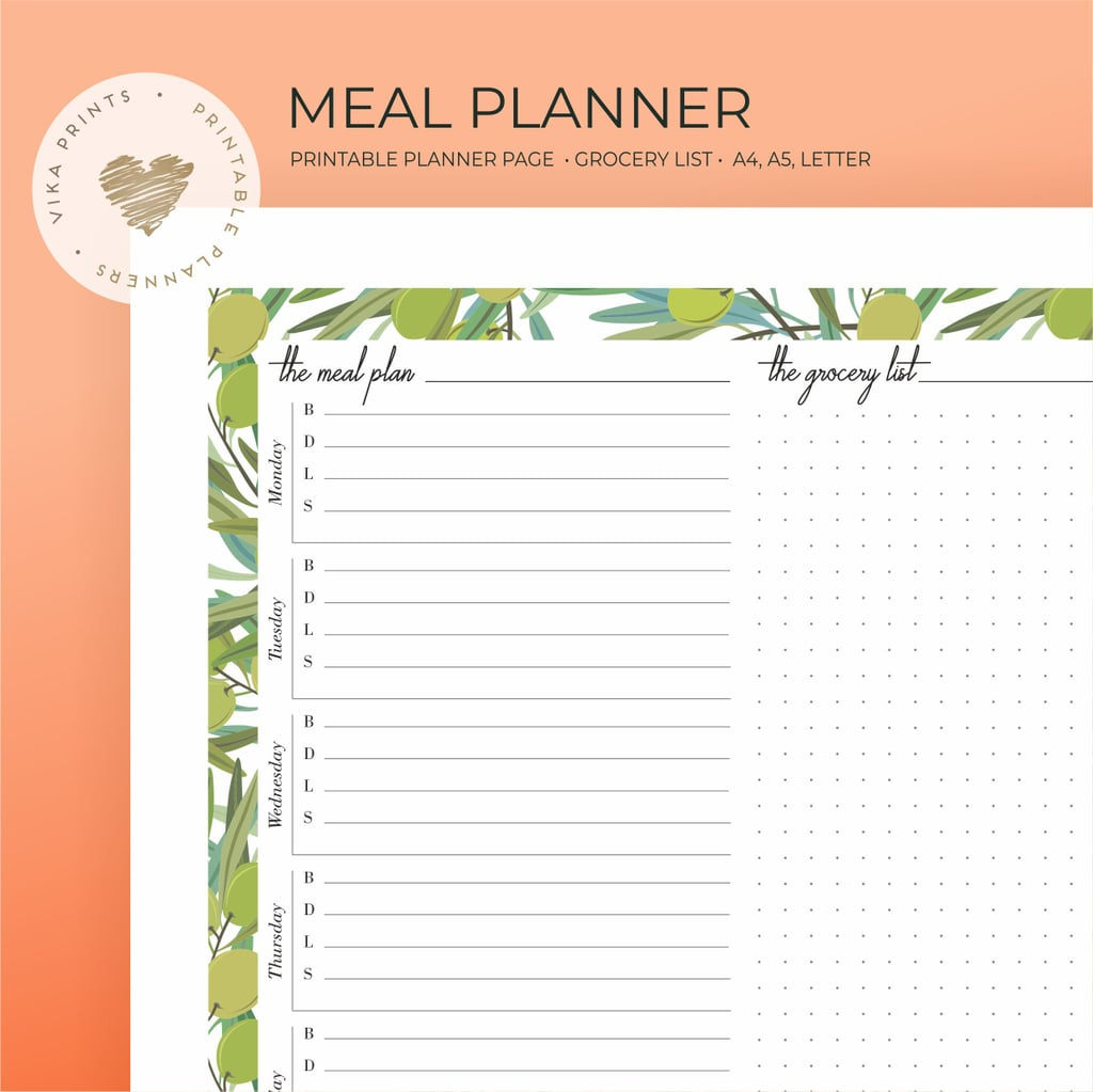 weekly meal planner printable 3 printable meal planning sheets