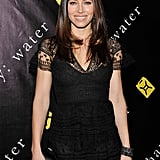 Jessica Biel wore a black lace dress to a charity event in NYC.