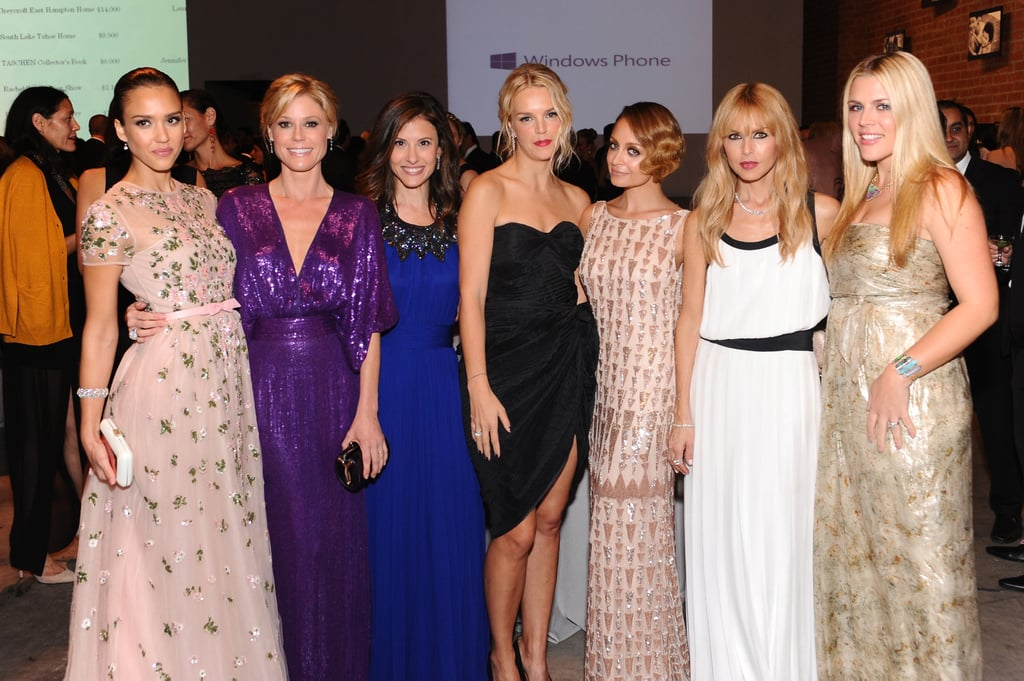 "A whole host of lovely ladies stepped out in Culver City, CA, on Saturday for the first-ever Baby2Baby Gala held at the Book Bindery. The event honored the organization's board member and ambassador, Jessica Alba, who wore Valentino for the special night and was presented her award by Mindy Kaling. Jessica tweeted to Mindy, ""Thank you so much for presenting my award last night, it was truly an honor and Cash Warren is still blushing!"" Board member Nicole Richie attended in a gown by Lorena Sarbu while Modern Family's Julie Bowen wore Naeem Khan. Also on hand were Busy Philipps, Rachel Zoe, Ali Larter, and Rebecca Gayheart. A few of their men came along to show their support as well, with Rachel's husband, Rodger Berman, stepping out and Rebecca's man, Eric Dane, also making an appearance."