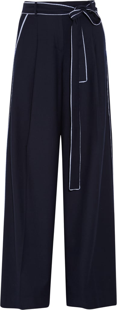 Jitney Wool-Blend Flannel Wide-Leg Pants ($230)