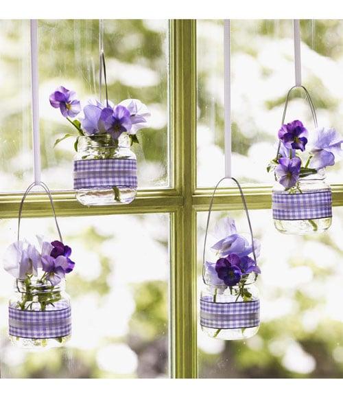 Hanging Baby-Food-Jar Vases