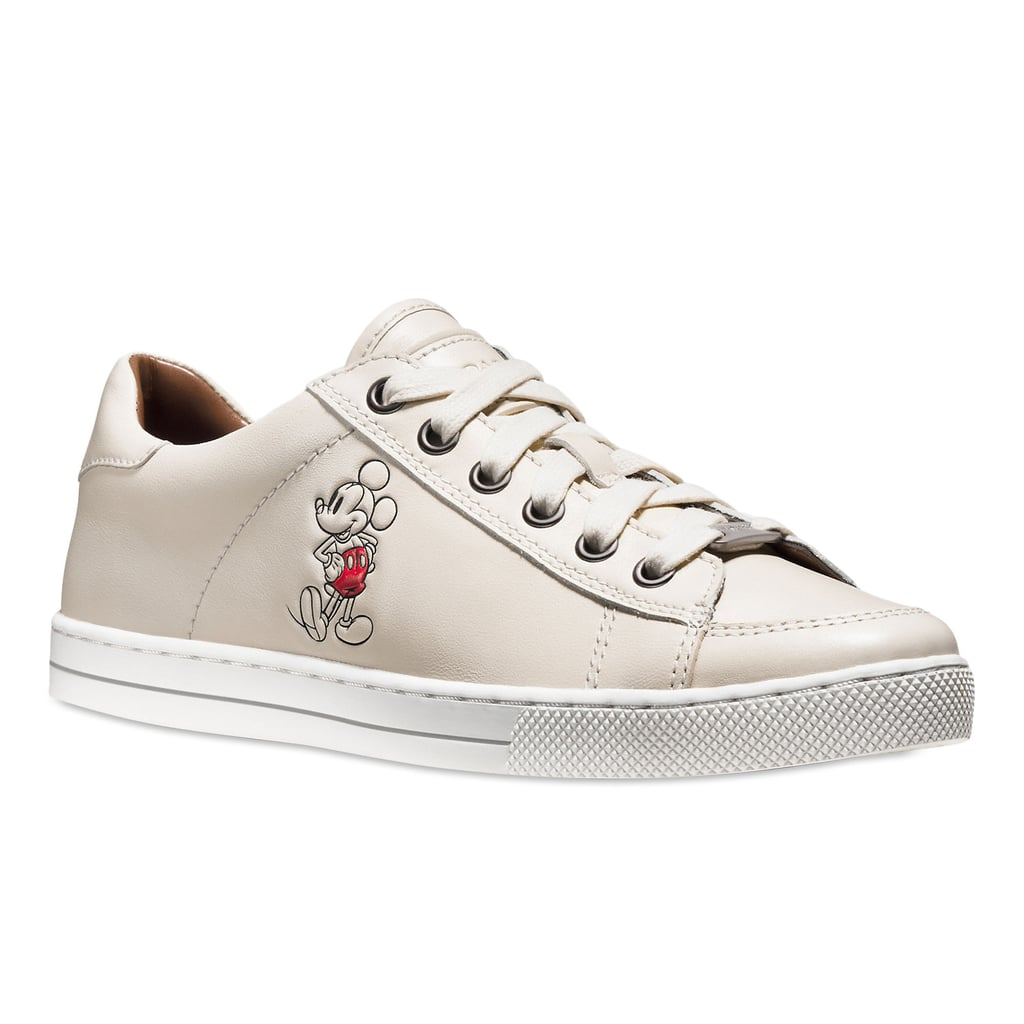 Mickey Mouse Porter Leather Sneakers For Women by Coach — White ($170)