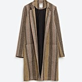 Zara Striped Jacquard Coat ($149)