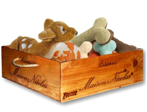 Recycled Wine-Crate Toy Box