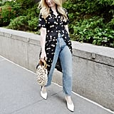 The Outfit Formula: A Dress Over Pants