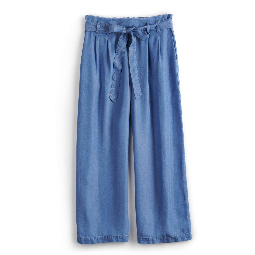 POPSUGAR Collection at Kohl's Chambray Wide-Leg Pants
