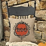 Heritage Lace Halloween Frames Square Throw Pillow