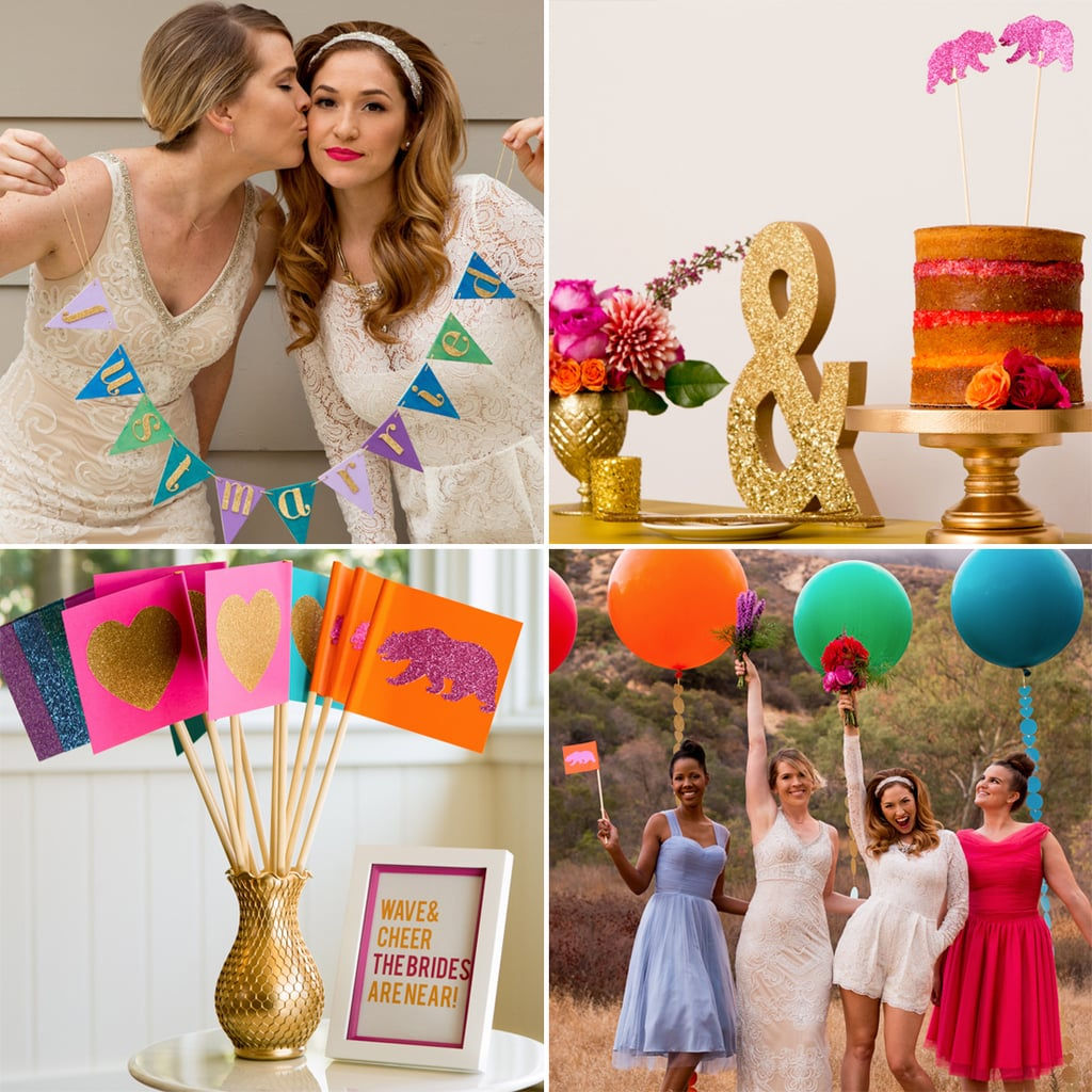 This Rainbow-Meets-Retro Wedding Inspiration Is Making Us Starry-Eyed