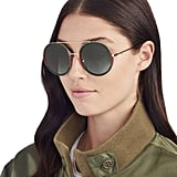 Gucci Bi-Color Round Aviator Sunglasses