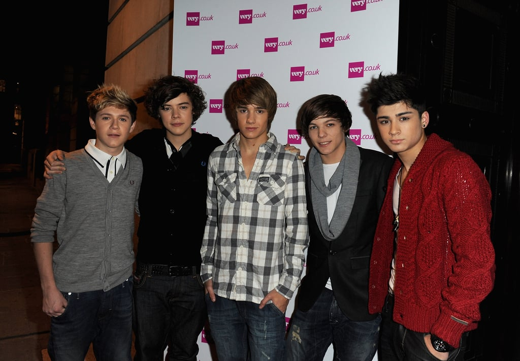One Direction at the Very.co.uk Christmas Catwalk Show in 2010