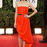 Marion Cotillard in Red Dior Dress