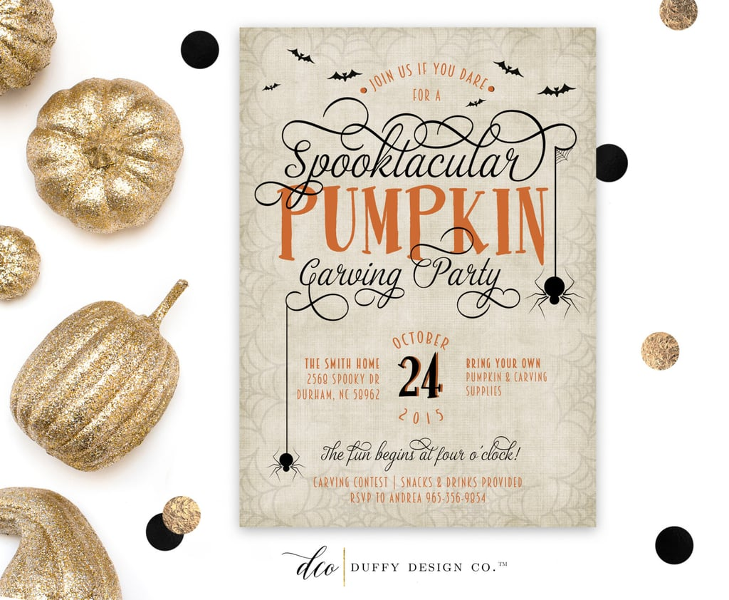 spooktacular pumpkin carving invitation 17 printable halloween
