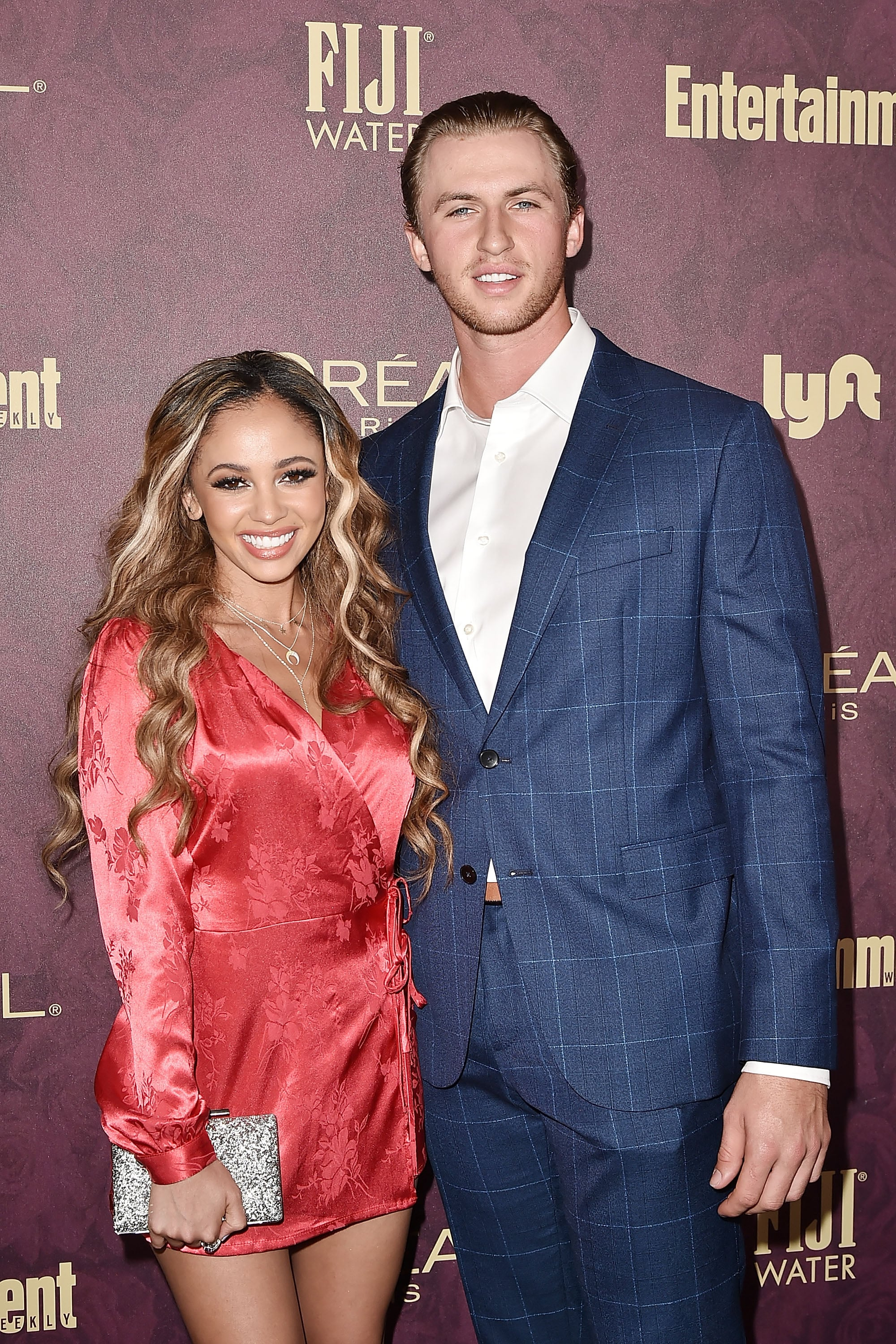 WEST HOLLYWOOD, CA - SEPTEMBER 15:  Vanessa Morgan and Michael Kopech attend the Entertainment Weekly Pre-Emmy Party 2018 at Sunset Tower Hotel on September 15, 2018 in West Hollywood, California.  (Photo by David Crotty/Patrick McMullan via Getty Images)
