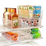 6 Piece Refrigerator and Freezer Stackable Storage Organizer Bins