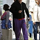 Orlando Bloom went to a gym in LA.