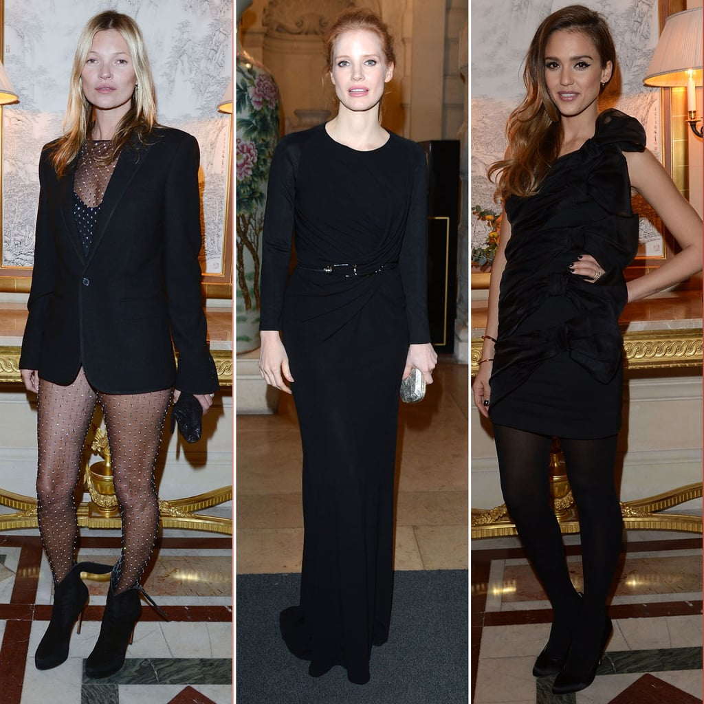 Kate Moss in Sheer Jumpsuit at CR Fashion Book Event