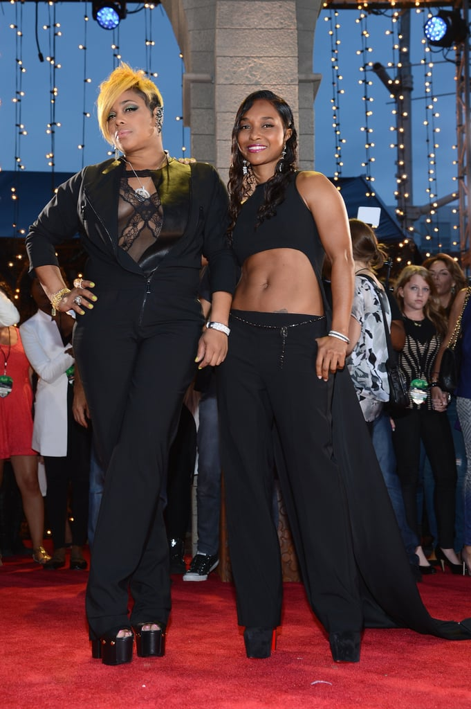 TLC's Tionne Watkins and Rozonda Thomas attended the MTV VMAs.