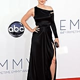 American Horror Story's Alexandra Breckenridge posed for pictures on the red carpet.