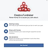 "Tap the ""Raise Money"" option to begin."