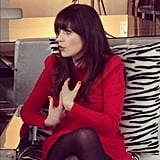 Who's that girl (who stopped by our studios)? It's Zooey Deschanel!