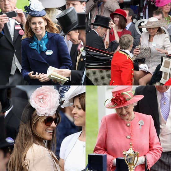 Princess Beatrice, Queen Elizabeth and Carole Middleton at Ascot