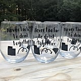 Long Distance Friendship Wine Glasses