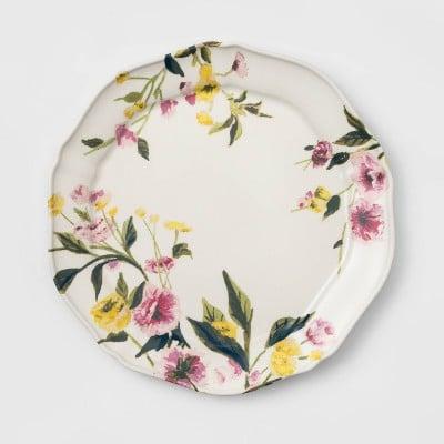 "11"" Melamine Floral Dining Plate"