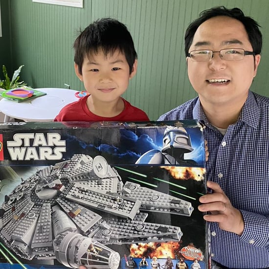 Dad Builds Wedding-Registry Lego Millennium Falcon With Sons