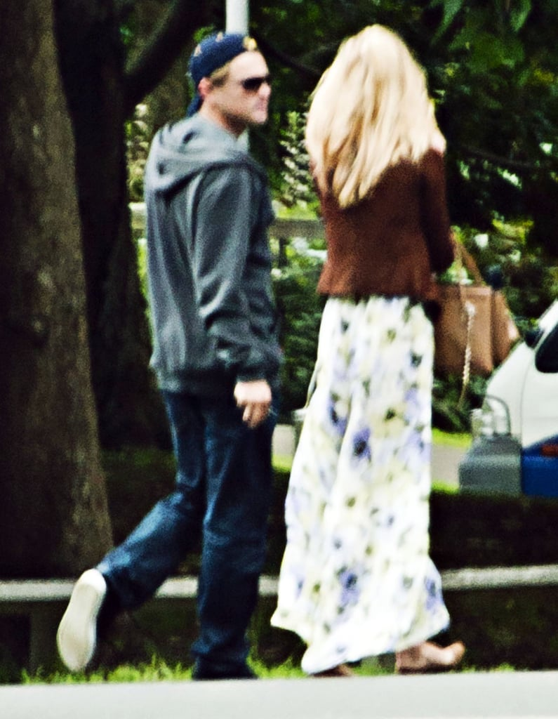 Leo and Erin chatted during their tour of Sydney's Vaucluse House.