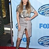 On the Red Carpet For American Idol in Los Angeles in December 2014