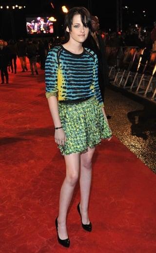 Kristen Stewart Attends London Premiere of New Moon in Colorful Proenza Schouler Spring 2010 Dress