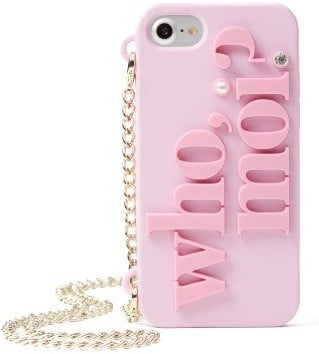 Kate Spade Who Moi? Miss Piggy iPhone 7 Case on a Chain - Pink ($60, originally $90)